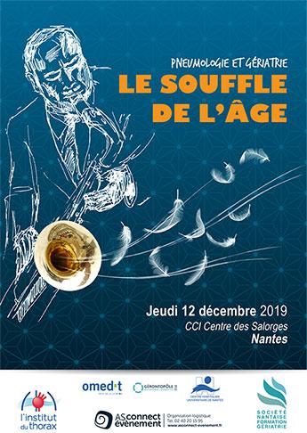 Affiche Journée Nantaise de Pneumo-gériatrie - Nantes 2019