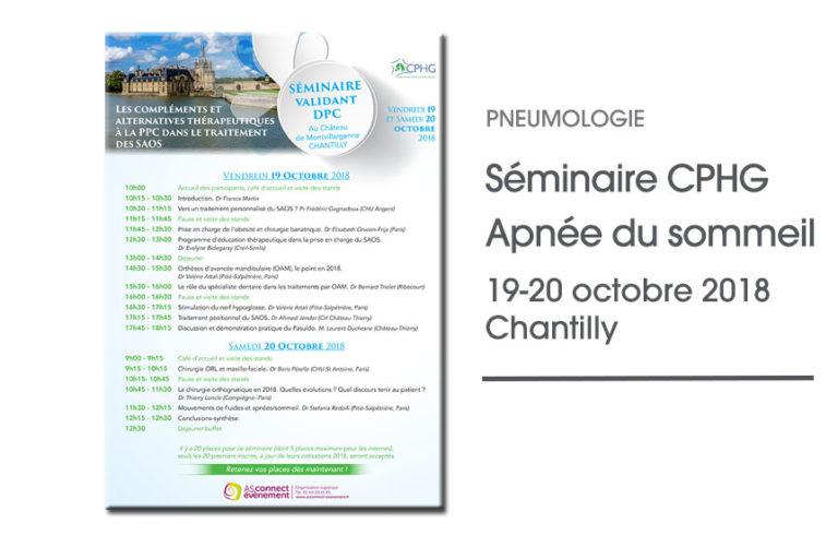 Séminaire du CPHG Chantilly