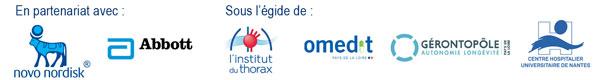 Logos co-organisateurs Journée d'onco-geriatrie Nantes 2018
