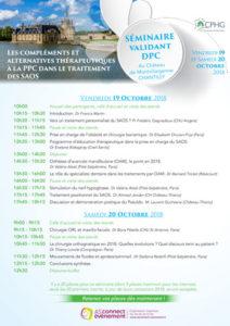 Programme Séminaire CPHG Chantilly 2018