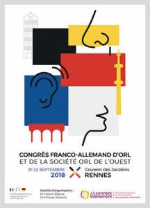 Visuel Congrès franco allemand d'ORL et journée SORL de l'Ouest 2018