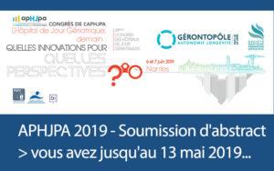 APHJPA - Soumettez votre communication (date limite le 13 mai 2019)