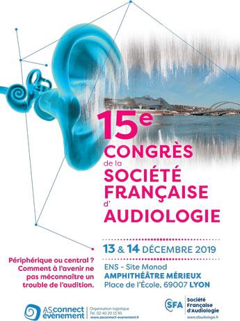 Visuel Congrès de la Société Française d'Audiologie Lyon 2019