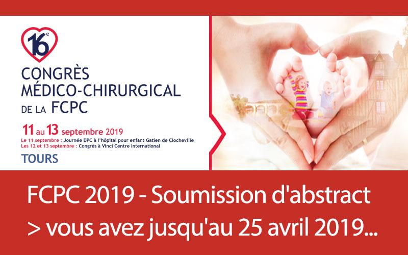 FCPC 2019 - Soumission d'abstracts > vous avezjusqu'au 25 avril 2019...