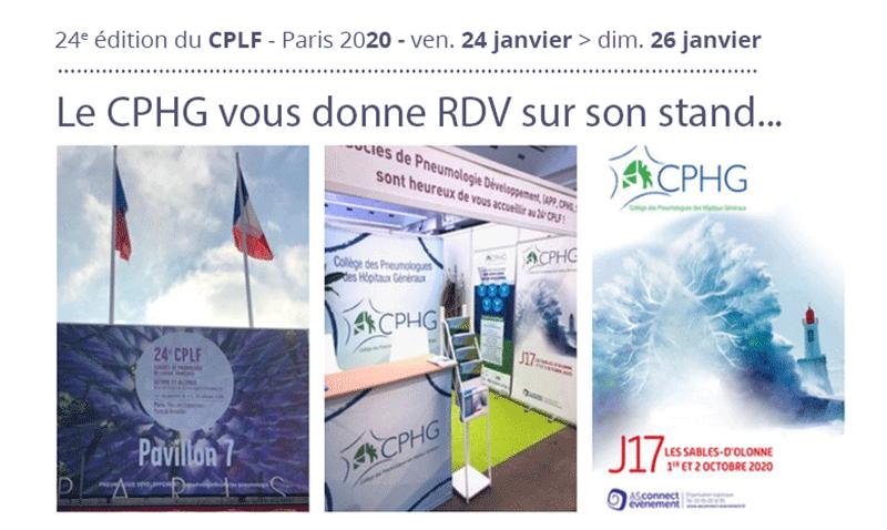 CPLF 2020 : RDV sur le stand du CPHG...