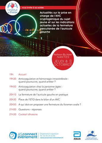 Affiche de l'EPU de l'institut du thorax du 8 octobre 2020