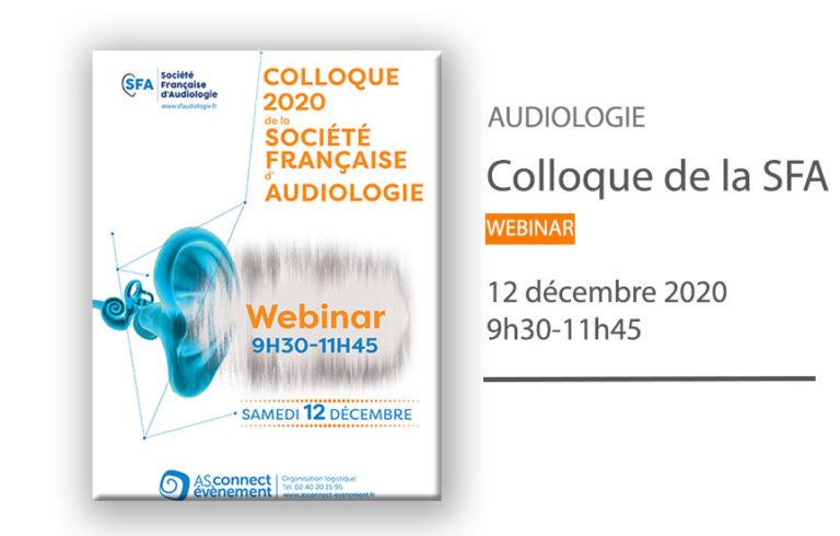 Webinar de la Société Française d'Audiologie